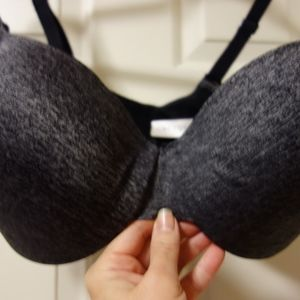 Cacique 38DD grey/black Bra